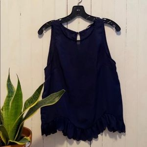 SHEIN Tank Top Business Casual Navy Blue Size L